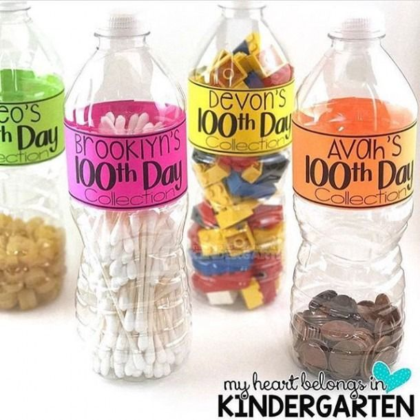 Kindergarten 100 Days Collection Bottle
