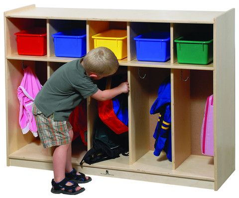 This Five Section Locker Is Designed For Toddler's Height And
