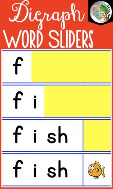 Digraph Segmenting And Blending Cards
