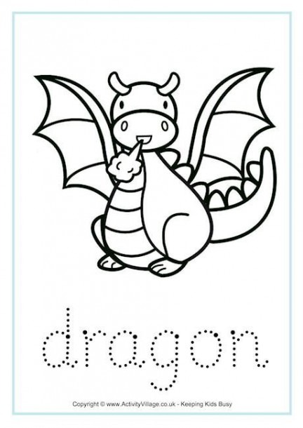 Dragon Tracing Worksheet For Not Your Typical Dragon