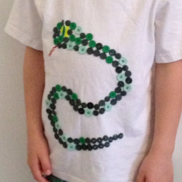Snake Made From 100 Buttons For The 100th Day Of Kindergarten