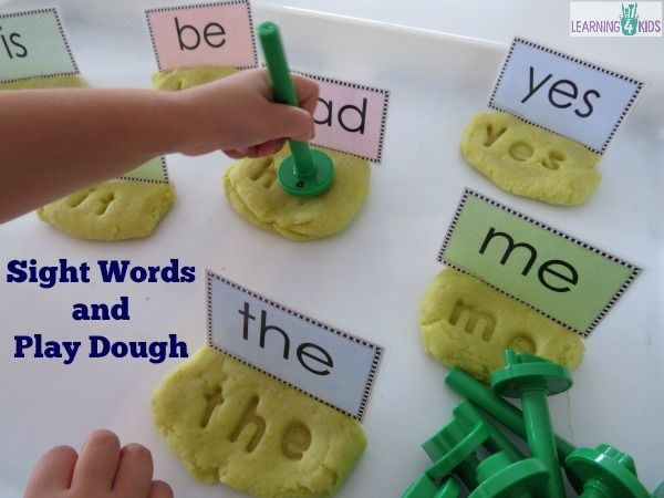 Sight Word Play Dough
