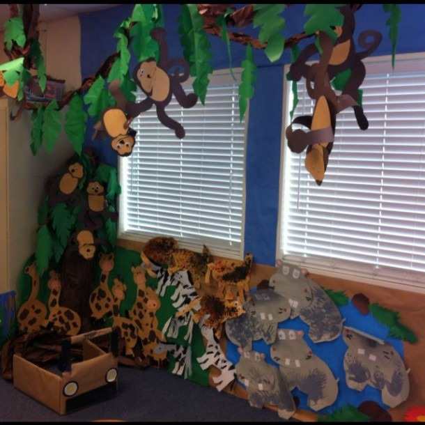 Turning A Part Of The Classroom Into A Forest