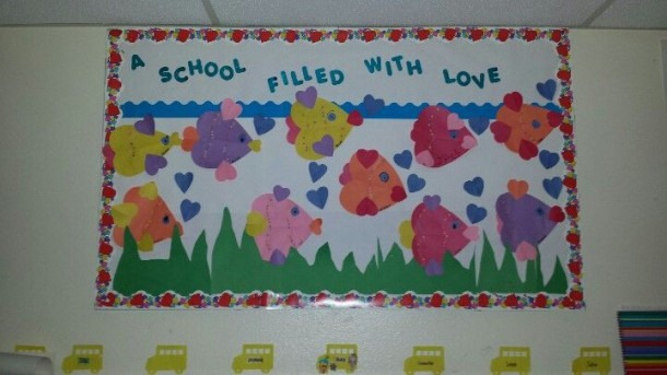 Month Of February Bulletin Board