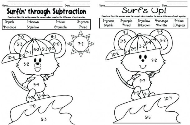 Adding And Subtraction Coloring Sheets – Filelocker Info