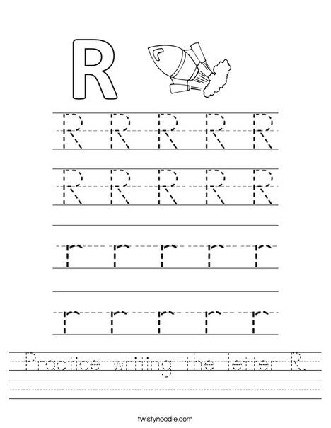 Practice Writing The Letter R Worksheet