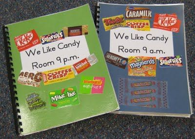 Candy Wrappers Are Environmental Print We Made  Candy Books  With