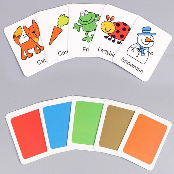 Cognitive Card Learn English Word Puzzle Toy Kid Educational Toys