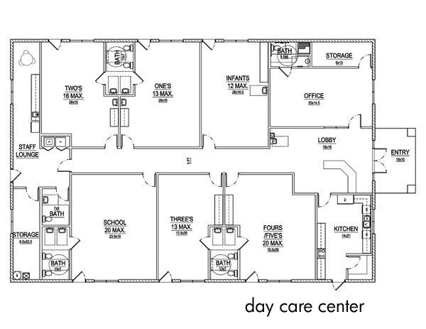 Day Care Center Layout