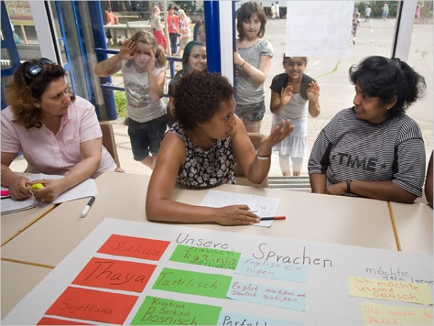 Classroom Door Gives Immigrants An Entry To German Language And