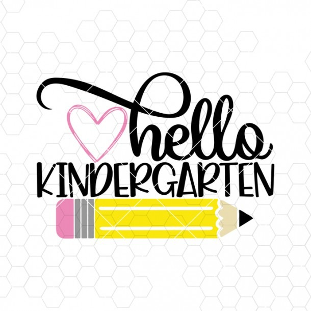 Back To School, Kindergarten Svg, Hello By Misanyc On Zibbet