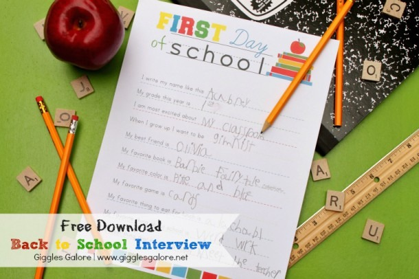 Back To School Interview