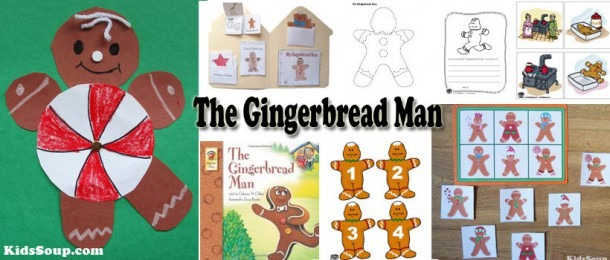The Gingerbread Man Crafts, Activities, Games, And Lessons