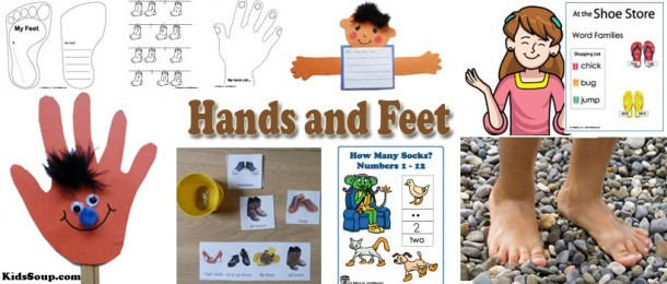 Hands And Feet Activities, Crafts, Rhymes, And Books