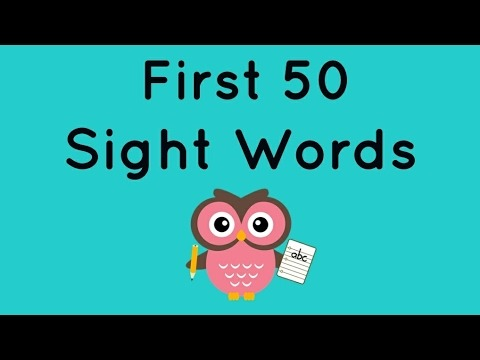Kindergarten Sight Words 1 Spoken