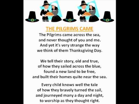 The Pilgrims Came (thanksgiving Poems)