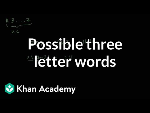 Possible Three Letter Words