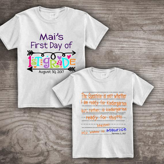 First Day Of School Shirts Personalized 1st Day Back To School