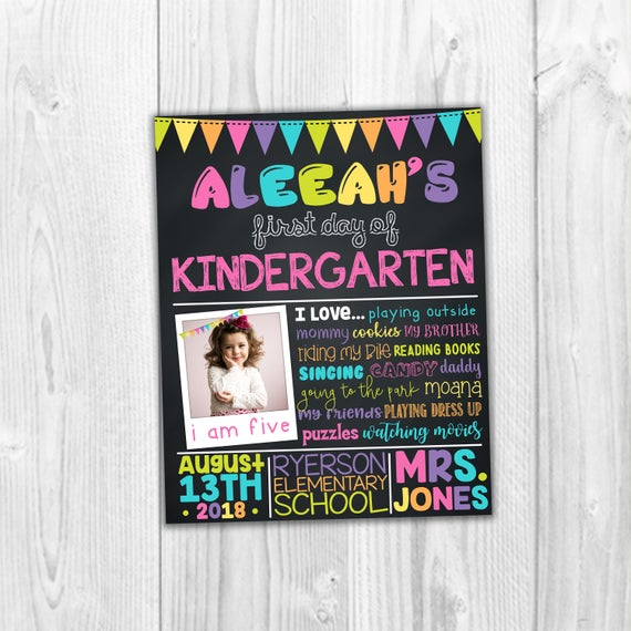 Back To School Signs Kindergarten Signs School Signs First