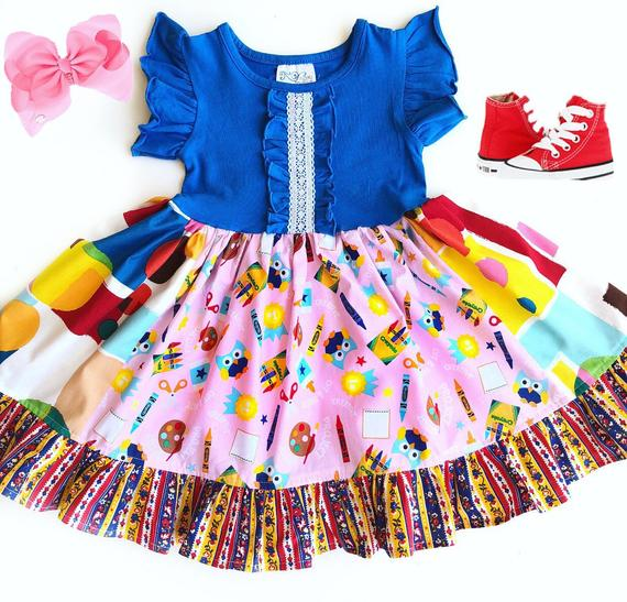 Back To School Dress Kindergarten Outfit First Day Of