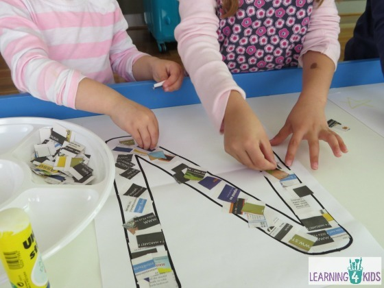 Letter N Activity – Newspaper Collage