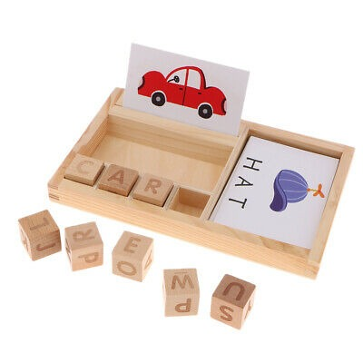 Montessori Word Puzzle Spelling Board Family Set Kid Toy Learning