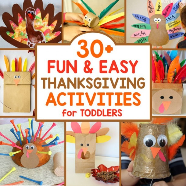 30+ Thanksgiving Activities For Toddlers