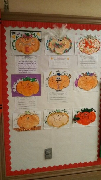 Family Project For October  Decorate Your Pumpkin & Describe It