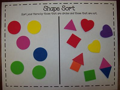 Ideas For Teaching Shapes, Including A Free Shape Sort, Art