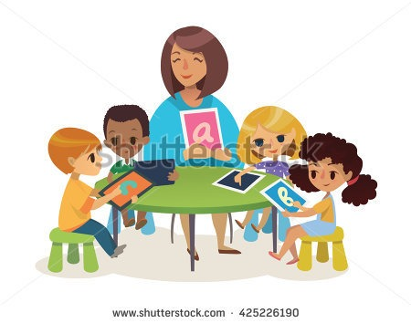 Teacher Small Group Clipart