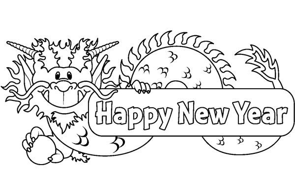 Chinese New Year Coloring Pages For Kindergarten
