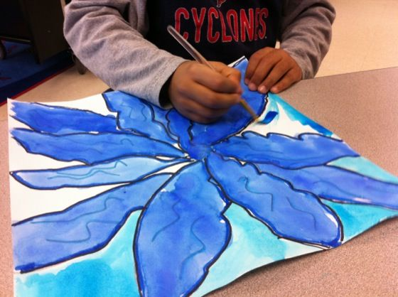 O'keeffe Flowers (get Kids To Draw Big!)  Free Lesson Plan