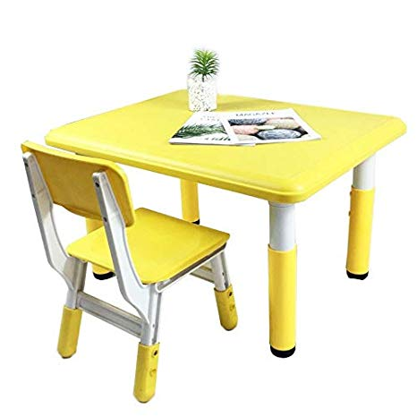 Amazon Com  Kids' Furniture Household Yellow Table And Chair Set