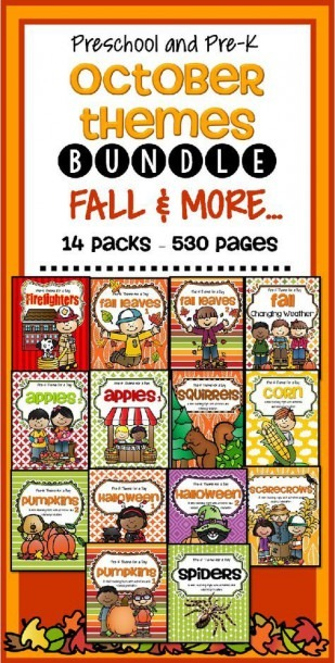 October Fall Themes Curriculum Bundle For Preschool And Pre