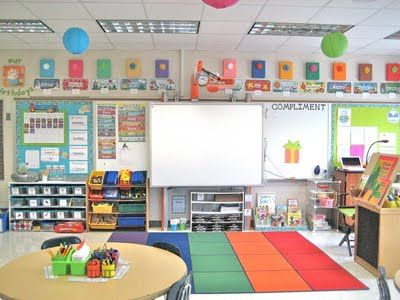 Love This Classroom Setup! Bright, Cheery, Simple, And Organized