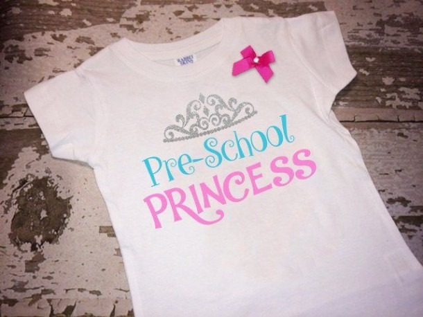 Preschool Princess Shirt With Bow