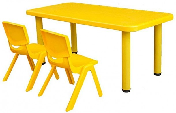 Amazon Com  Hhxd Children's Rectangular Table For Up To 6 People
