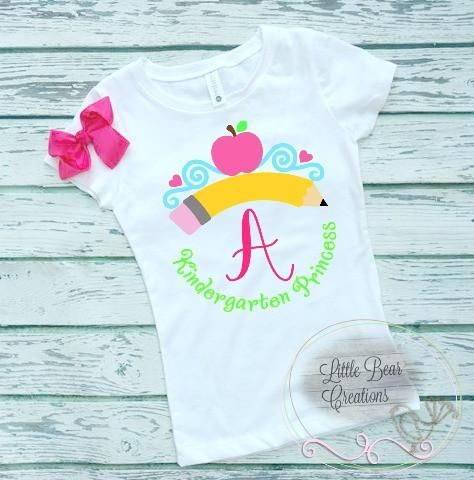 14 Deal) Back To School Princess Grade Shirt Including A Matching