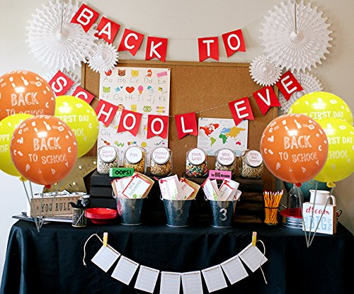 Amazon Com  Back To School Decoration Balloon, Happy First Day Of