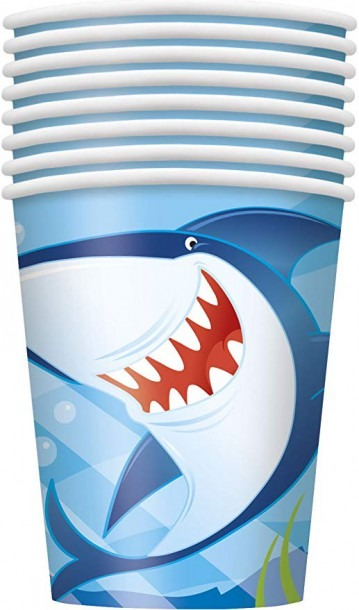 Amazon Com  9oz Ocean Shark Party Cups, 8ct  Kitchen & Dining