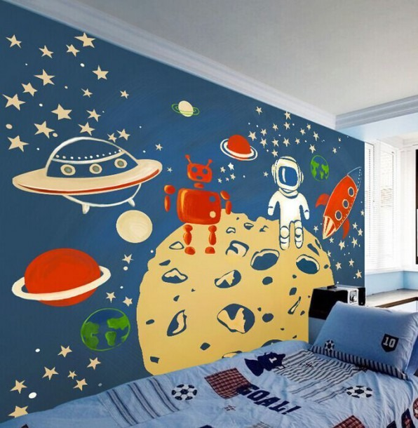 Large Wall Murals Kindergarten Background Wall Wallpaper Children