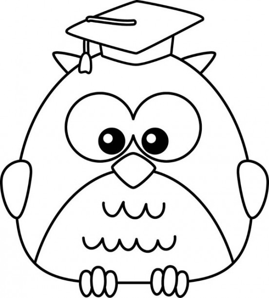 Cartoon Owl Coloring Page Printable