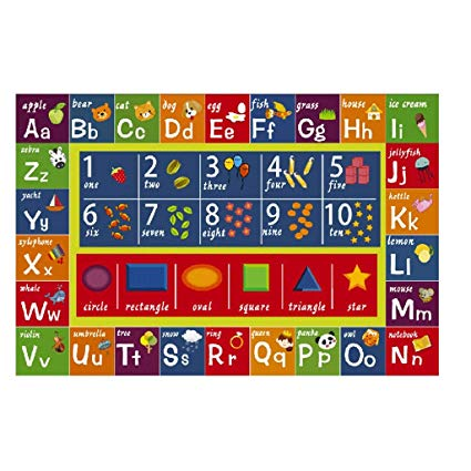 Amazon Com  Carpet Gx Kindergarten Children Letters Rectangular
