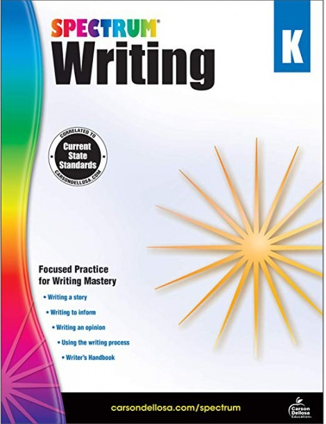 Spectrum Paperback Writing Book, Grade K, Ages 5