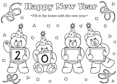 Colouring Activity For Kids This New Year 2019