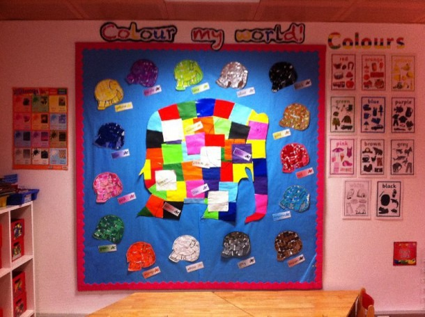 Colour My World With Elmer Classroom Display Photo