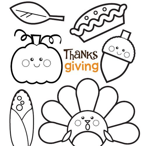 Shades Of Turkeys And Pumpkin Pie   Thanksgiving Colouring Pages