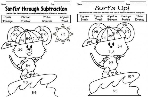 Math Coloring Pages Kindergarten