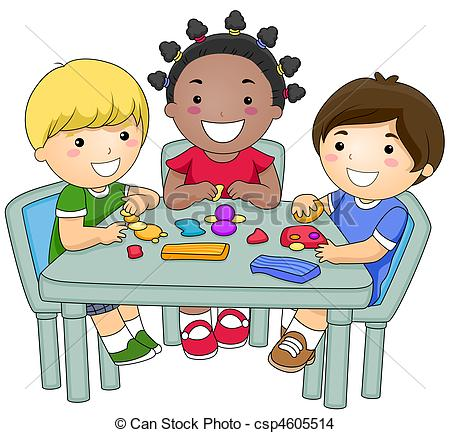 Large Group Preschool Clipart