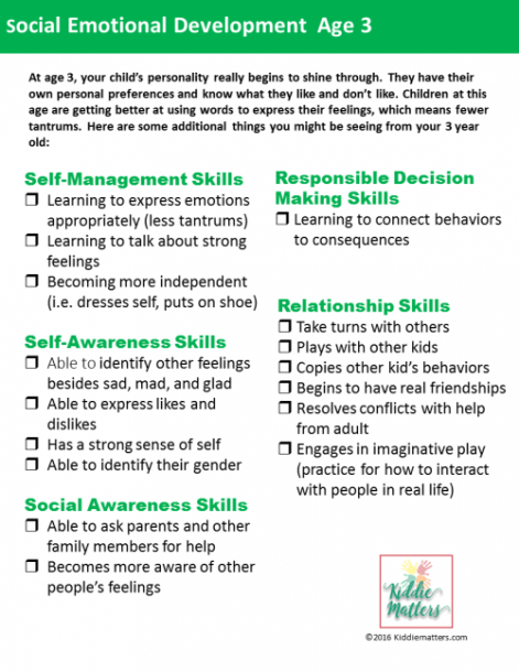 Social Emotional Developmental Checklists For Kids And Teens
